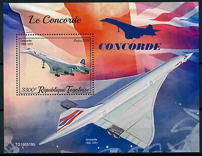 Togo Aviation Stamps 2019 MNH Concorde 1v S/S