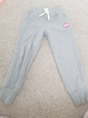 Converse All Star Girls Jogging Bottoms Joggers Grey Age 6-7 Years 116-122Cm