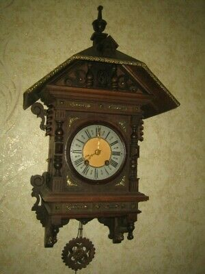 Large Antique Beautiful Cuckoo Clock