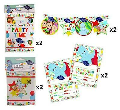 In The Night Garden 8 Piece Party Set Loot Bags Party Banner Invitations & more