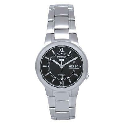 Seiko 5 Automatic Black Dial Silver Stainless Steel Mens Watch SNKA23K1 RRP £169