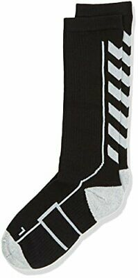 Hummel Kinder Socken TECH INDOOR Socks HIGH, Black/White, 8 (32-35)