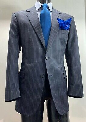 Brooks Brothers Madison Wool Navy Blue Striped Suit Men's 42 - 43