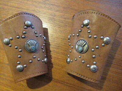 Texas Rodeo Cowboy Cuffs Wild West Show Navajo Silber Tophand Togs Textan