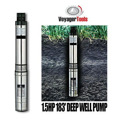 Voyager Tools Deep Well Pump 1.5HP Water Supply