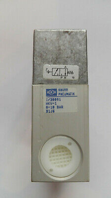 Knorr Pneumatic WKV-1 I30091 3/2-Way Pneumatic Valve /0-10bar/Mint