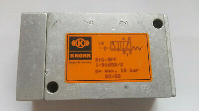 Knorr Pneumatic Type: 91G-5PF/ I/91652/2 ( Pmax: 10Bar) Mint