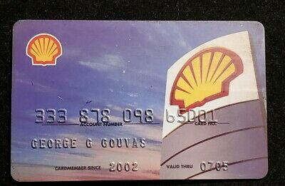 Shell Oil Company credit card exp 2005♡Free Shipping♡cc1363