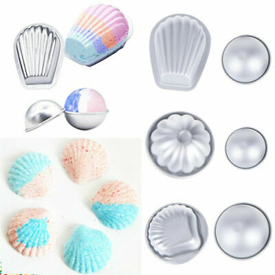 6 Shape 12 Pcs Metal Aluminum Bath Bomb Molds Moulds DIY Homemade Crafting