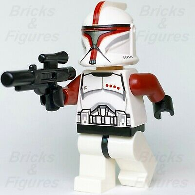 New Star Wars LEGO® Red Phase 1 Clone Trooper Captain Minifig 75021 Genuine