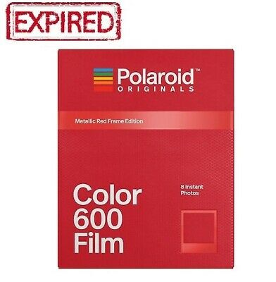 EXPIRED Polaroid Originals Metallic Red Frame Color instant film 600 660 636 US