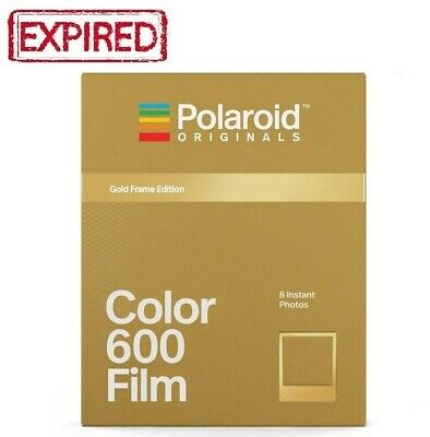 EXPIRED - Polaroid Originals GOLD FRAMES Color instant film 600 636 One Step US