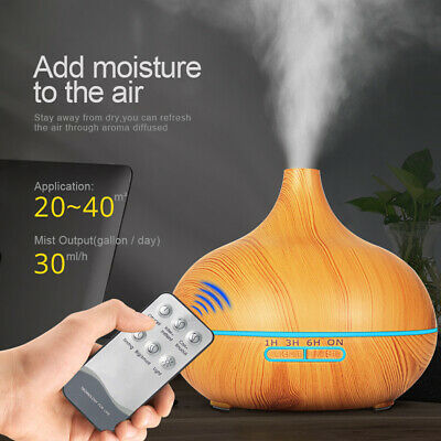 Ultrasonic Aroma Aromatherapy Diffuser Oil Electric Air Humidifier Essential LED