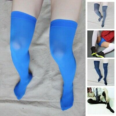 Men's Soccer Thigh Stocks High Stockings Velvet Stretchy Long Socks Brethable