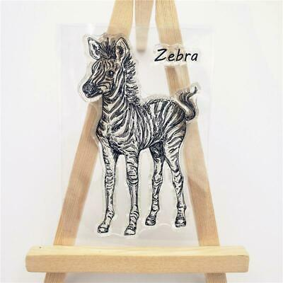 Zebra Silicone Clear Stamp Seal DIY Scrapbooking Embossing Album Cards Decor