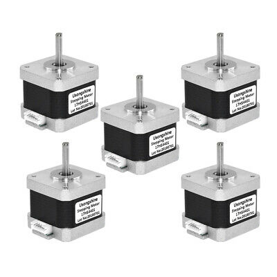 5x Nema17 17HS4401 1.5A 2Phase Stepper Motor 1m Wire 4-lead for 3D Printer CNC