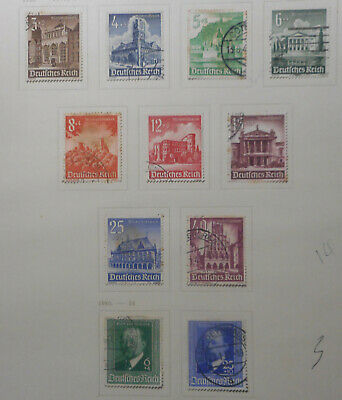Germany 1940 Various  sets  11 stamps   Used  Nice