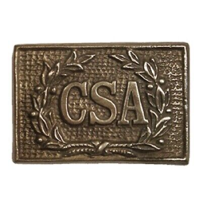 Antique Style Military Civil War Confederate CSA Belt Buckle SOLID Brass WREATH
