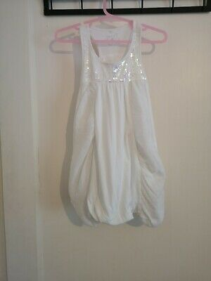 Girl's Next White Tunic  top age 3 years Holiday Party X
