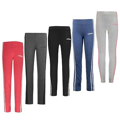 Girls Adidas 3 Stripe Classic Breathable Regular Soft Tights Sizes from 7 to 13