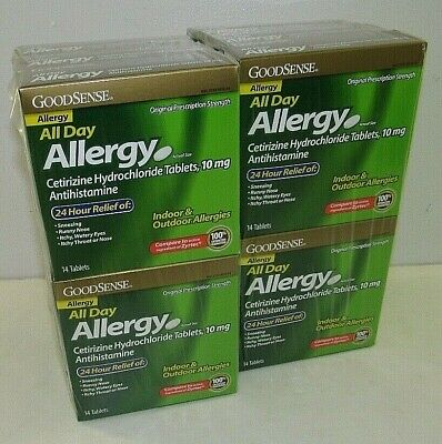 GOODSENSE All Day Allergy 24 Hour 168 Tablets  12 Packs of 14 Tablets