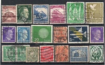 GERMANY = Small selection of Good / Fine Used issues. Early to 1960`s. Unchecked