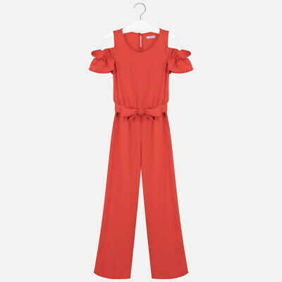 New Girls Mayoral Pique Jumpsuit, Age 8 Years , (6810)