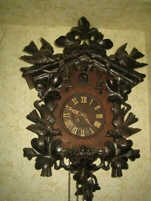 RARE ANTIQUE CUCKOO CLOCK Wooden movement