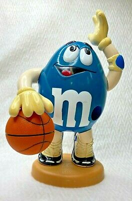 "Vintage Blue M & M Basketball 13"" Candy Dispenser"