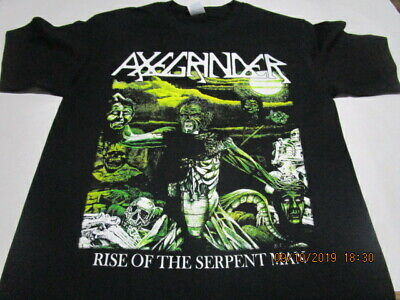 AXEGRINDER rise of the serpent man T-SHIRT MEDIUM & LARGE , PROPHECY OF DOOM