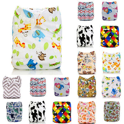 Washable Baby Pocket Cloth Nappy  Reusable Diaper BAMBOO CHARCOAL Cover Wrap