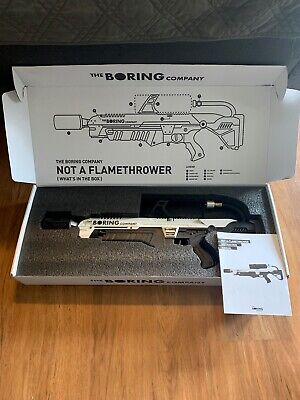 The Boring Company Not A Flamethrower By Elon Musk