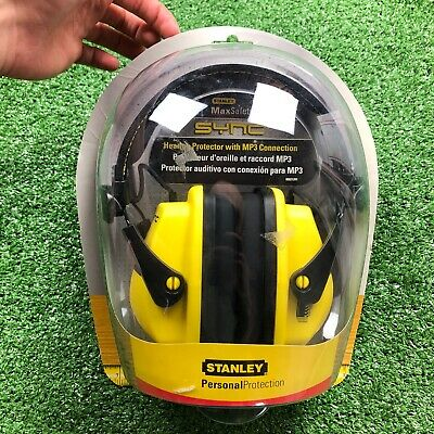 Stanley MaxSafety Sync Personal Protection MP3 Headphones Earmuffs RST-63011