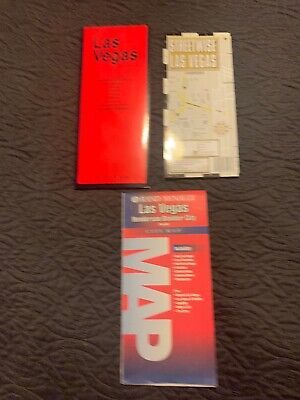 Vintage Rand Mcnally Las Vegas City Map Streetwise Map & The Red Map 1996 - 1997