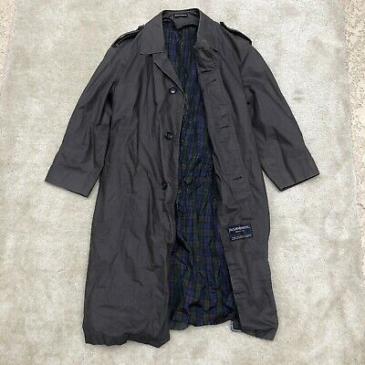Vintage Yves Saint Laurent Diffusion Hommes Plaid Trench Coat Medium