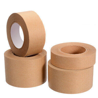 30M 24/36/47/57mm Gummed Kraft Brown Paper Tape Bundled Sealed Water  Activated
