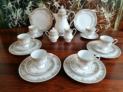 Noritake Ireland Morning Jewel - Noble 21 Piece Coffee Service for 6 People
