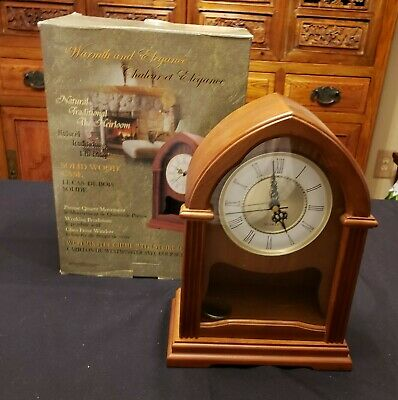 SKYTIMER Mantel Clock Westminster Chime with Pendulum, Solid Wood Case