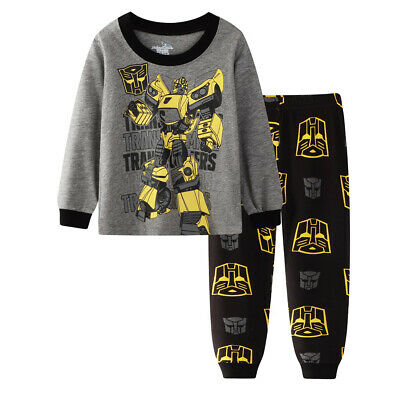 Transformers bumblebee boys cotton long sleeve pjs clothing size 1 2 3 4 5 6