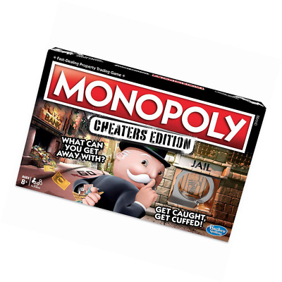 Monopoly Game Cheaters Edition Board