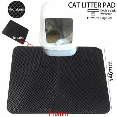 Waterproof Double-Layer Cat Litter Mat Trapper Foldable Pad Pet Rug Home