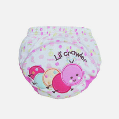 Infant Baby Boy Girl Pee Potty Training Diaper Pant Cloth Nappy Underwear #F 100