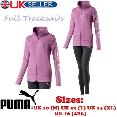PUMA Womens Ladies Full Tracksuit Jogging Top Bottom Suit Trousers - Sizes 10-16
