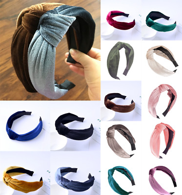 UK Ladies Twist Knot Headband Headwrap Elastic Head Wrap Sports Turban Hair Band