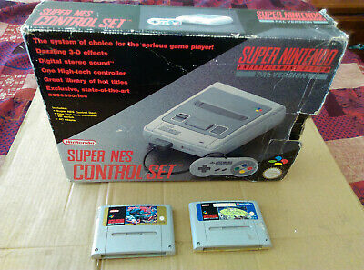 Vintage Boxed SUPER NINTENDO / SNES + GAMES - GREAT WORKING CONDITION! - NICE!