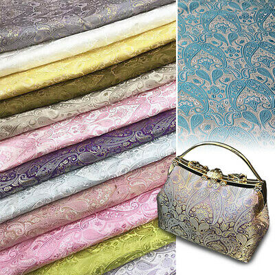 Satin Brocade Fabric Damask Silky Floral Chinese Dress Costume Material Craft