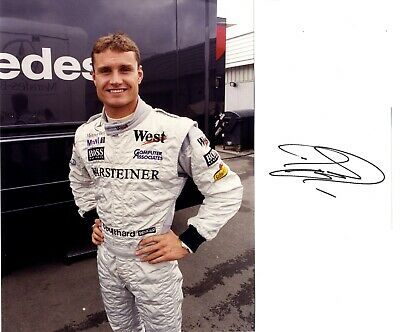 David Coulthard - Scottish Formula 1 Motor Racing Driver In Person Signed Card.
