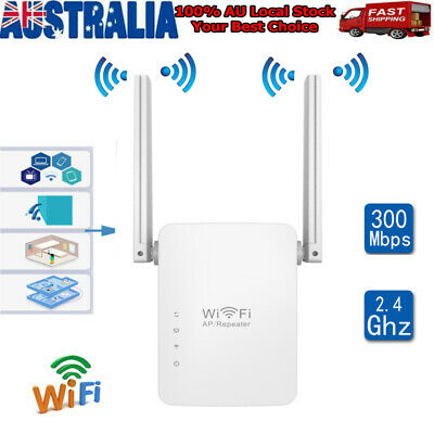 300Mbps WiFi Repeater Signal Booster Amplifier Router Wireless Range Extender