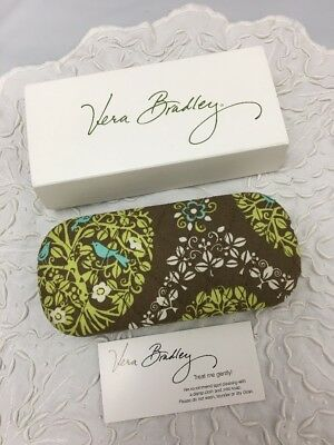 Vera Bradley Sittin In A Tree Hard Clam Shell Eyeglass Case For Purse Tote