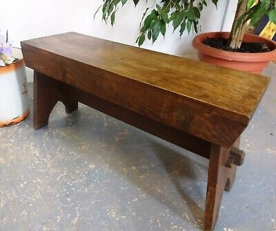 Lovely Vintage Wood Wooden Stool Seat